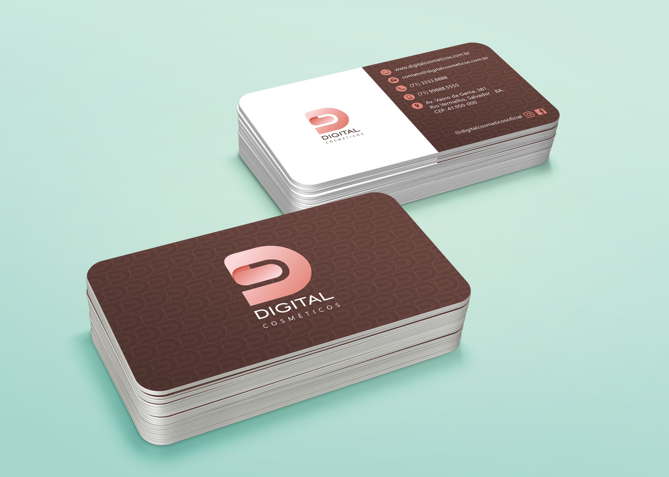 Stack Business Card Mock-Up